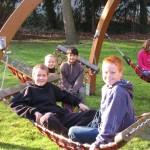 Entspannen im Schulgarten