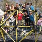 Klettergerüst 2 auf dem Schulhof