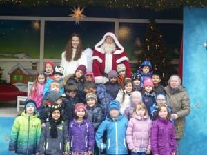 Weihnachtsmann Gruppenbild